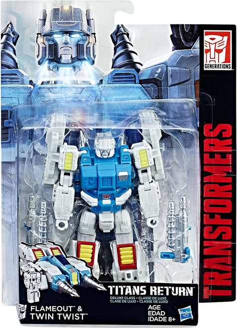 Transformers Generations Titans Return Twin Twist & Flame Out Deluxe Action Figure