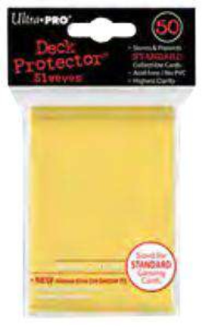 Ultra Pro Card Supplies Deck Protector Yellow Standard Card Sleeves [50 Count]