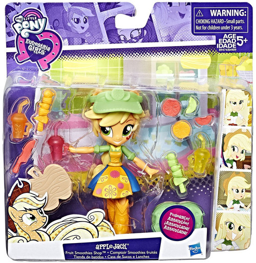My Little Pony Equestria Girls Applejack Fruit Smoothies Shop 4.5-Inch Figure