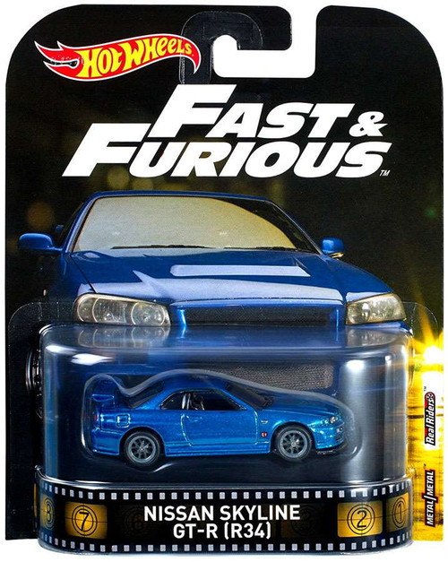 Hot Wheels Fast & Furious Nissan Skyline GT-R [R34] Diecast Car