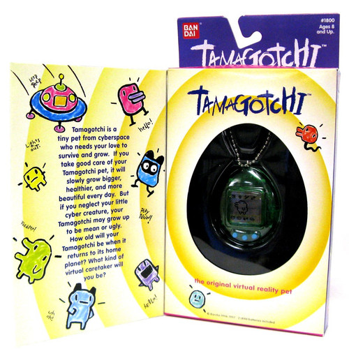 Tamagotchi Trans Green Virtual Pet [Original Version]