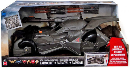 DC Justice League Movie Mega Cannon Batmobile Action Figure Vehicle