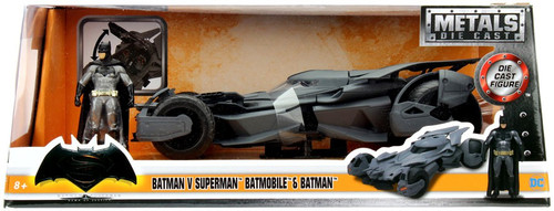 DC Batman V Superman Batmobile & Batman Diecast Vehicle
