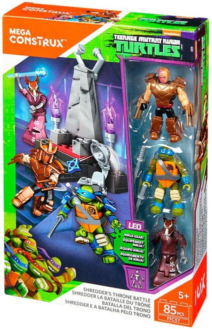 Mega Construx Teenage Mutant Ninja Turtles Animation Shredder's Throne Battle Set