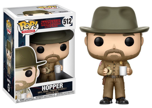 Funko Stranger Things POP! TV Hopper with Donut Vinyl Figure #512 [Regular Version, With Hat]