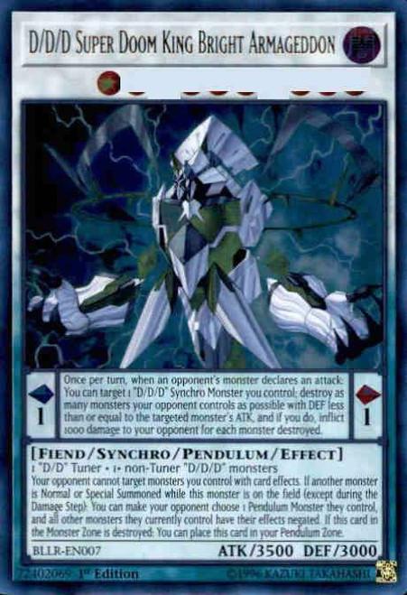 YuGiOh Battles of Legend: Light's Revenge Ultra Rare D/D/D Super Doom King Bright Armageddon BLLR-EN007