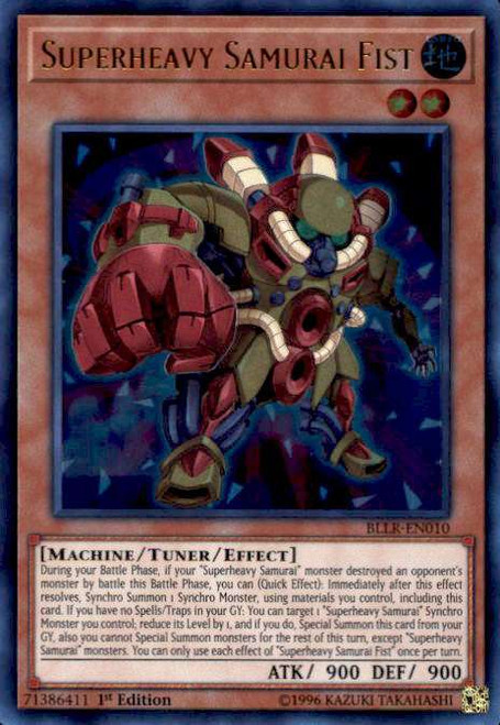 YuGiOh Battles of Legend: Light's Revenge Ultra Rare Superheavy Samurai Fist BLLR-EN010
