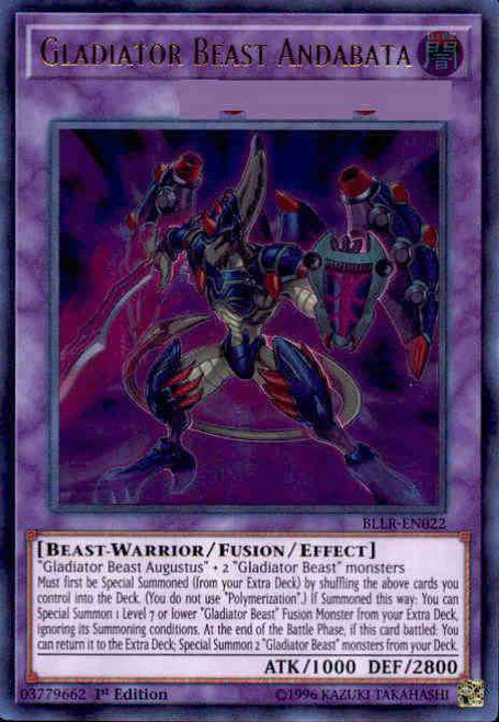 YuGiOh Battles of Legend: Light's Revenge Ultra Rare Gladiator Beast Andabata BLLR-EN022