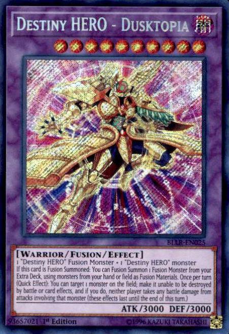 YuGiOh Battles of Legend: Light's Revenge Secret Rare Destiny HERO - Dusktopia BLLR-EN025