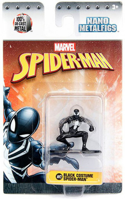 Marvel Nano Metalfigs Black Costume Spider-Man 1.5-Inch Diecast Figure MV2