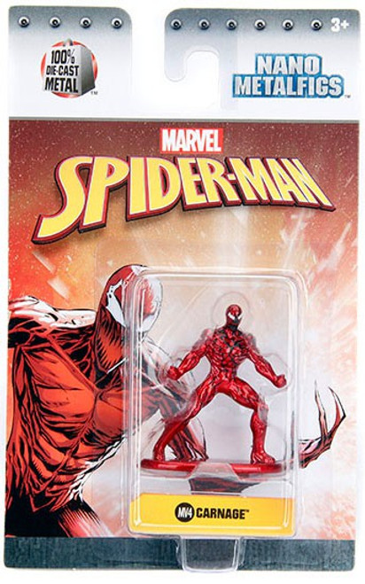Marvel Spider-Man Nano Metalfigs Carnage 1.5-Inch Diecast Figure MV4