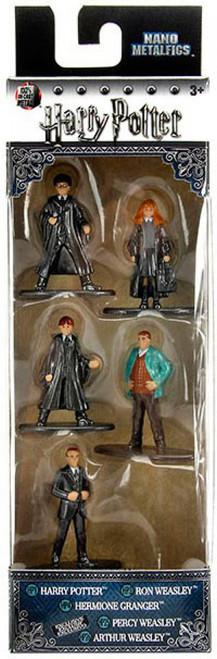 Nano Metalfigs Harry Potter, Ron Weasley, Hermione Granger, Percy Weasley & Arthur Weasley 1.5-Inch Diecast Figure 5-Pack