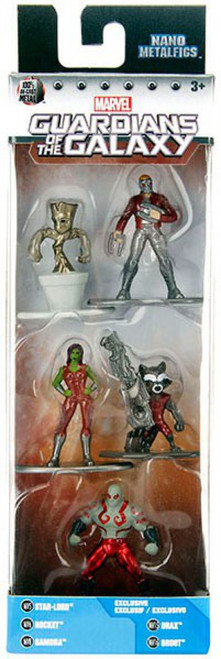 Marvel Guardians of the Galaxy Nano Metalfigs Star-Lord, Rocket, Gamora, Drax & Groot 1.5-Inch Diecast Figure 5-Pack