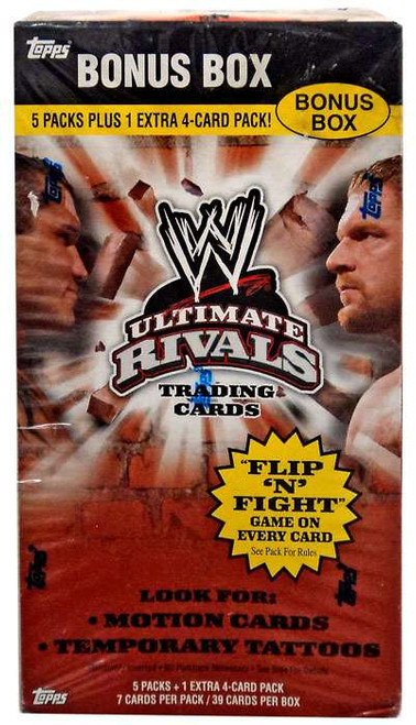 WWE Wrestling Topps Ultimate Rivals Bonus Box