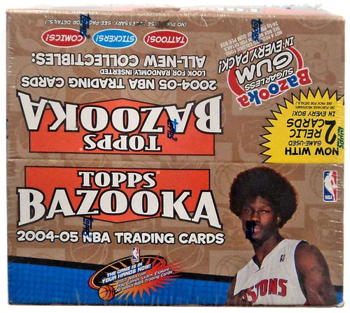 NBA Topps Bazooka 2004-05 Trading Card Box