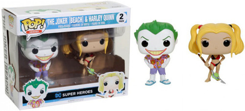 Funko Suicide Squad POP! Movies The Joker (Beach) & Harley Quinn Exclusive Vinyl Figure 2-Pack