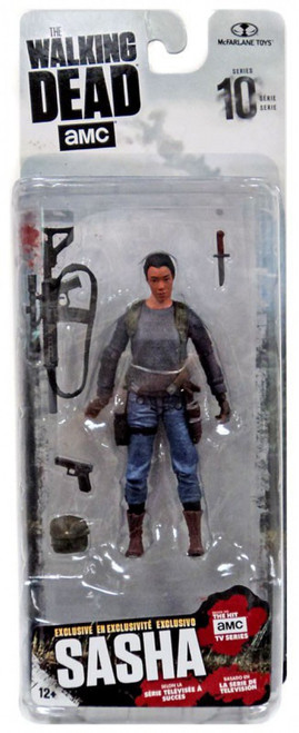 McFarlane Toys The Walking Dead AMC TV Series 10 Sasha Exclusive Action Figure