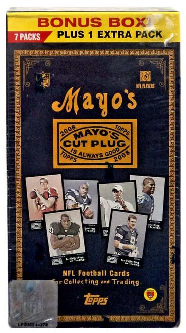 NFL Topps 2008 Mayo's Cut Plug Football Trading Card BONUS Box [7 Packs + 1 Extra Pack]