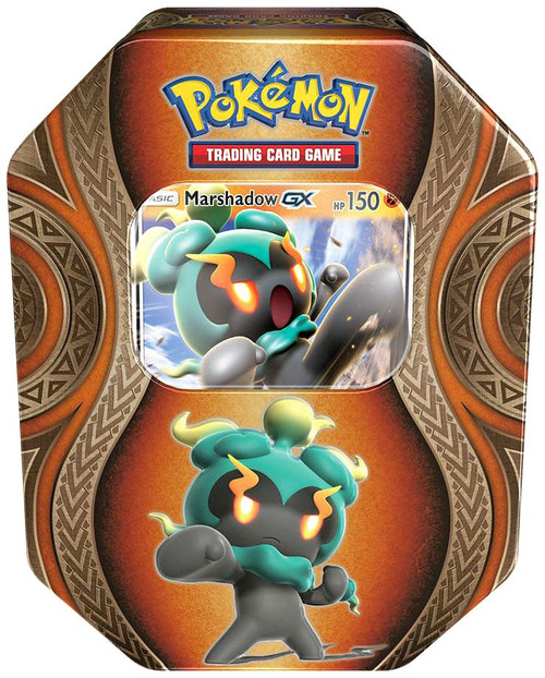 Pokemon Trading Card Game Mysterious Powers Marshadow GX Tin Set [4 Booster Packs & Promo Card!]