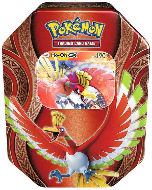 Pokemon Trading Card Game Mysterious Powers Ho-Oh GX Tin Set [4 Booster Packs & Promo Card!]