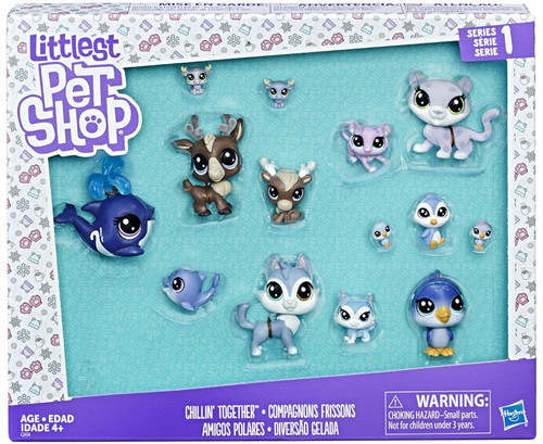 Littlest Pet Shop Chillin' Together Exclusive Figure 14-Pack