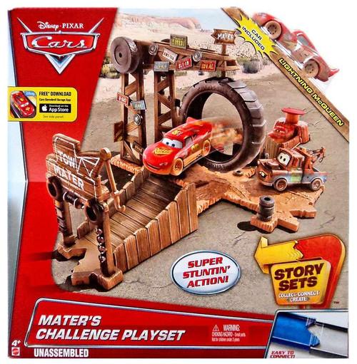 Disney / Pixar Cars Story Sets Mater's Challenge Playset [Damaged Package]