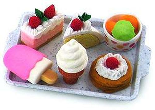 Iwako Cakes & Ice Cream Eraser Set [Damaged Package]
