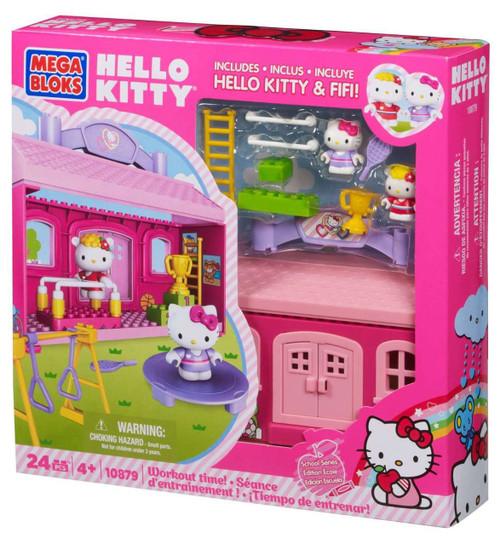 Mega Bloks Hello Kitty Workout Time Set #10879 [Damaged Package]