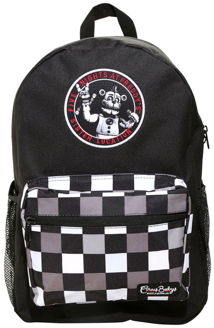 Five Nights at Freddy's Sister Location Checkered Circus Baby Exclusive Backpack