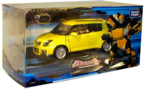 Transformers Japanese Alternity Suzuki Swift Bumblebee Action Figure A-03 [Damaged Package]