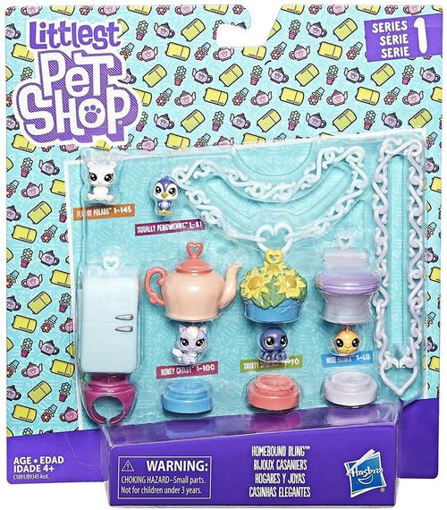 Littlest Pet Shop Series 1 Homebound Bling Set