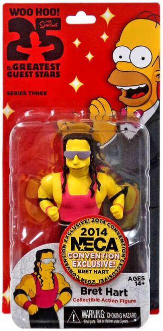 NECA The Simpsons Greatest Guest Stars Series 3 Bret Hart Exclusive Action Figure [Exclusive]