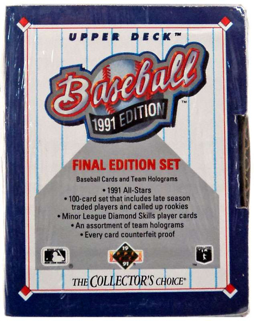 MLB 1991 Final Edition Set Trading Card Set