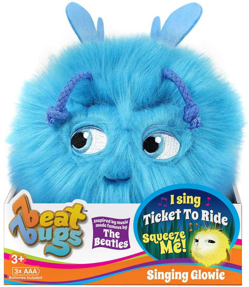 Beat Bugs Blue Singing Glowie Plush with Sound