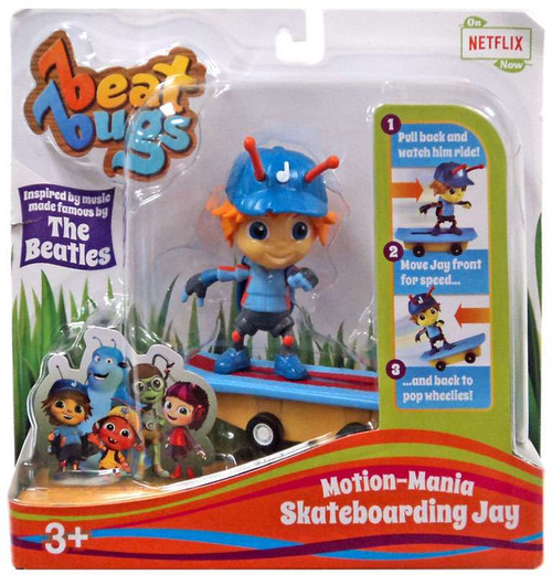 Beat Bugs Motion-Mania Skateboarding Jay Action Figure