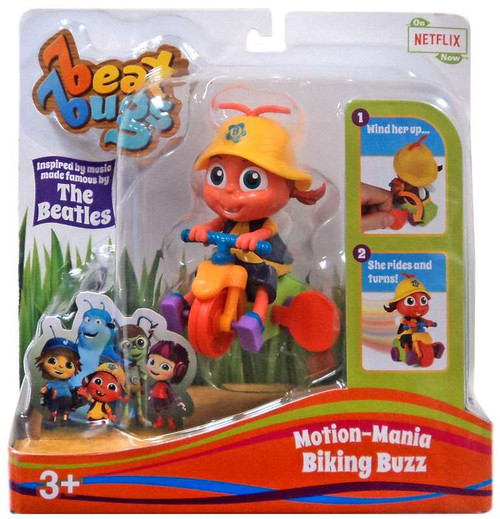 Beat Bugs Motion-Mania Biking Buzz Action Figure