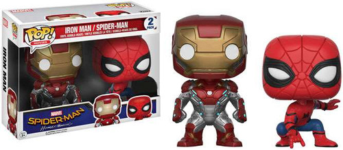 Funko Spider-Man Homecoming POP! Marvel Iron Man & Spider-Man Exclusive Vinyl Bobble Head 2-Pack