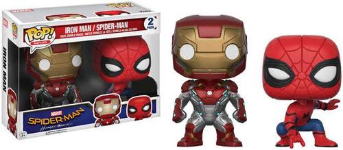 Funko Spider-Man Homecoming POP! Marvel Iron Man & Spider-Man Exclusive Vinyl Bobble Head 2-Pack