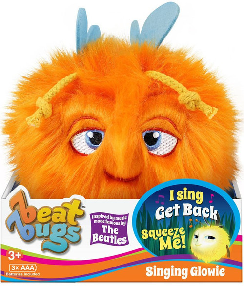 Beat Bugs Orange Singing Glowie Plush with Sound