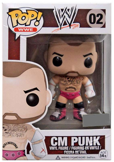 Funko WWE Wrestling POP! Sports CM Punk Exclusive Vinyl Figure #02 [Pink Trunks]