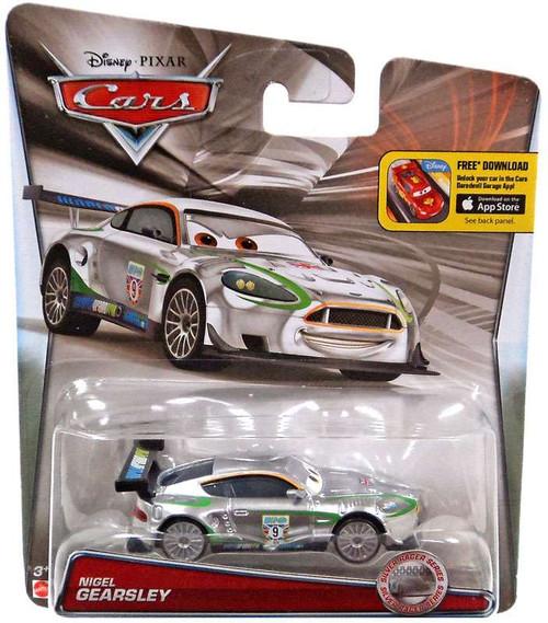 Disney / Pixar Cars Silver Racer Series Nigel Gearsley Diecast Car