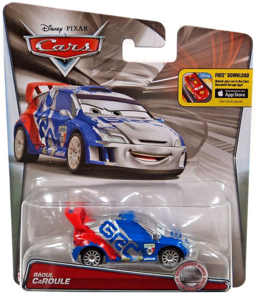 Disney / Pixar Cars Silver Racer Series Raoul Caroule Diecast Car