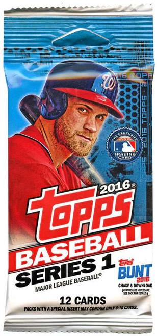 MLB Topps 2016 Series 1 Baseball Trading Card Pack [12 Cards]