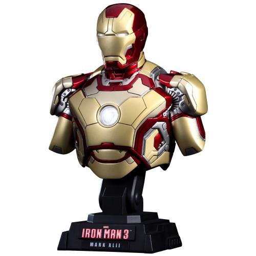 Iron Man 3 1/4th Scale Iron Man Mark XLII Bust