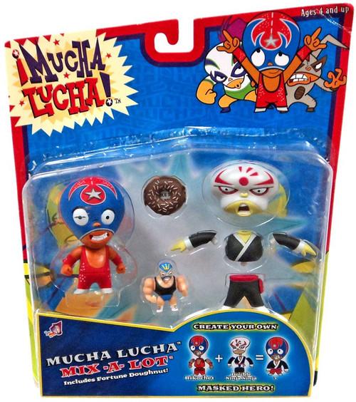 Mucha Lucha Mix-a-Lot Rikochet & Double Ninja Ninja Action Figure 2-Pack