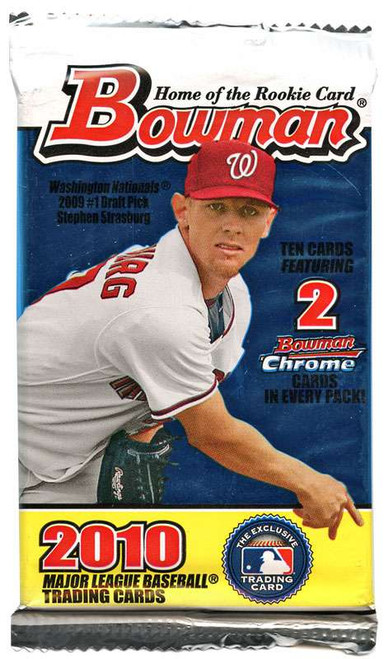 MLB Topps 2010 Bowman Baseball Trading Card Pack [10 Cards!]