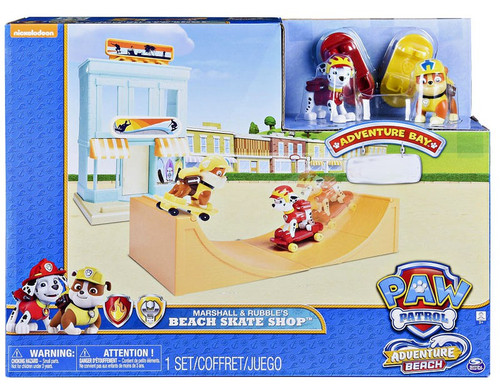 Paw Patrol Marshall & Rubble's Beach Skate Shop Exclusive Playset