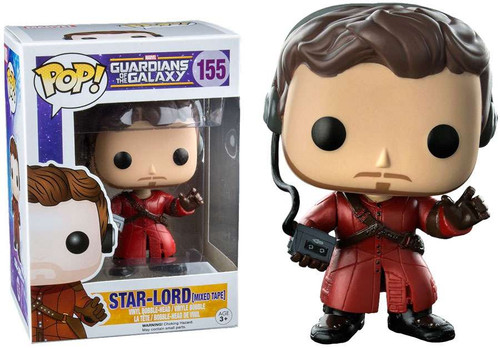 Funko Guardians of the Galaxy POP! Marvel Star Lord Exclusive Vinyl Bobble Head #155 [Mixed Tape]
