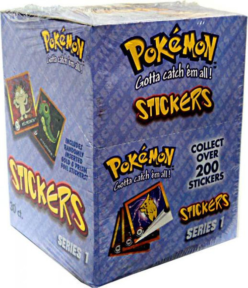 Pokemon Series 1 Sticker Box [30 Packs]