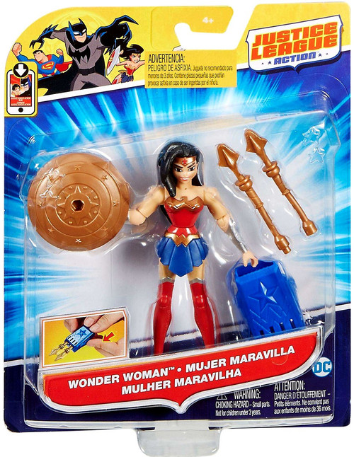 "Justice League Action JLA Power Connects Wonder Woman Action Figure [4.5""]"